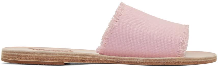 Ancient Greek Sandals Pink Denim Taygete Sandals