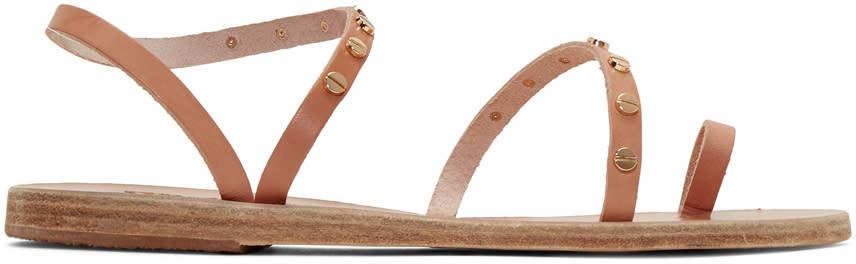 Ancient Greek Sandals Tan Apli Eleftheria Nails Sandals