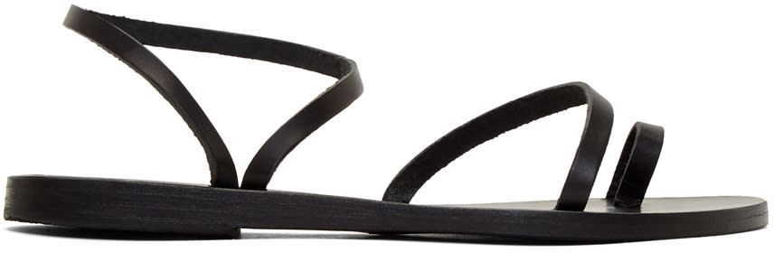 Ancient Greek Sandals Black Apli Eleftheria Sandals