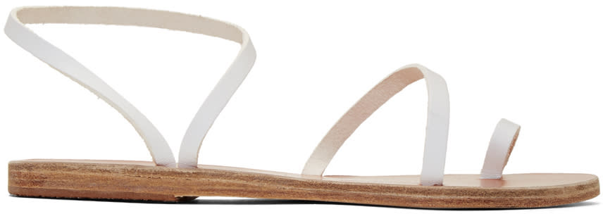 Ancient Greek Sandals White Apli Eleftheria Sandals