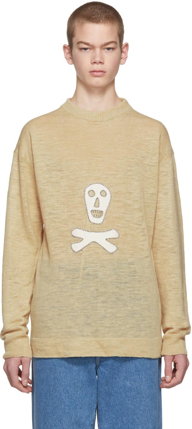 Image of Loewe Beige Skull Sweater