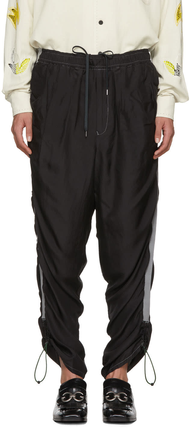 Image of Toga Virilis Black Silk Lounge Pants