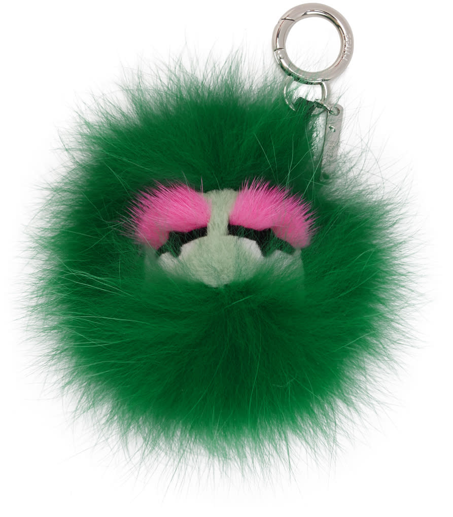 8640735d8e Fendi Green Fur Bag Bugs Keychain