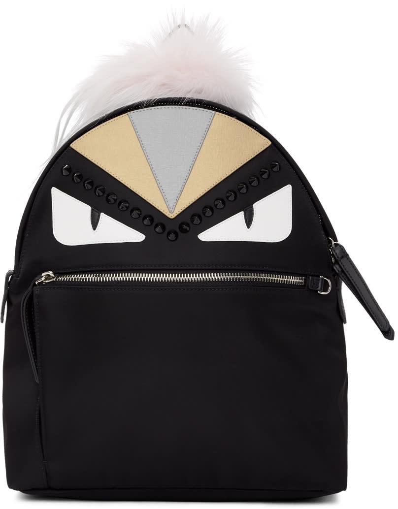 3f44d0f08 Fendi Black bag Bugs Zaino Backpack