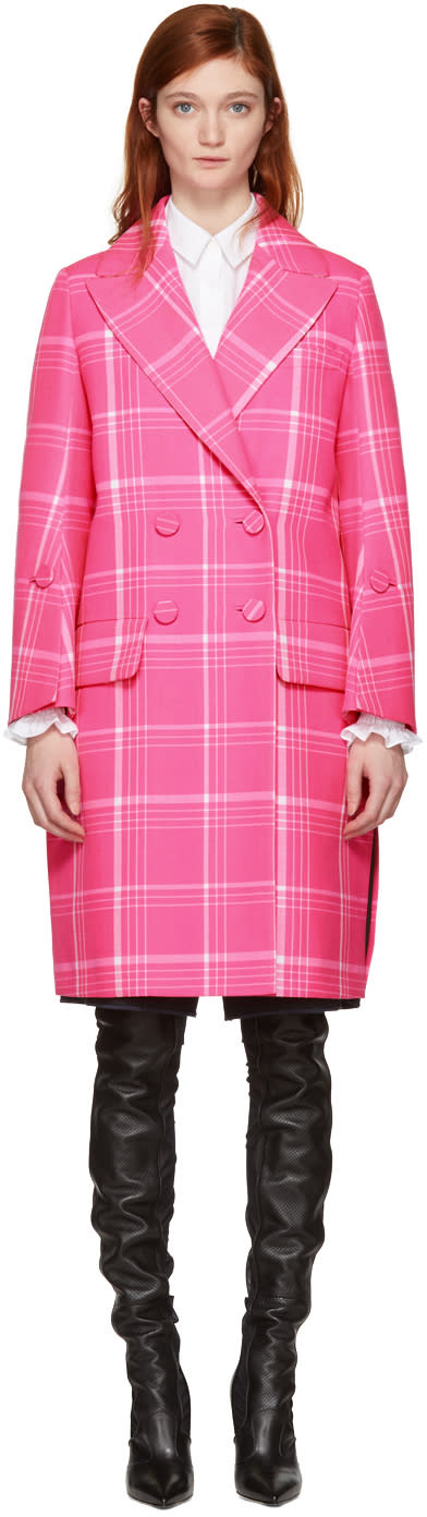 Fendi Pink Plaid Coat
