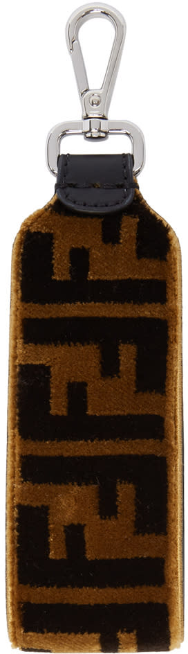 c2db3c18b22e Fendi Brown and Black Large Velour forever Fendi Keychain
