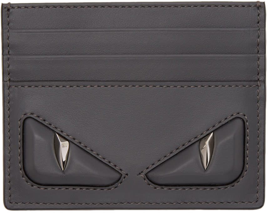 8ba7d8aae129 Fendi Grey 3d bag Bugs Card Holder