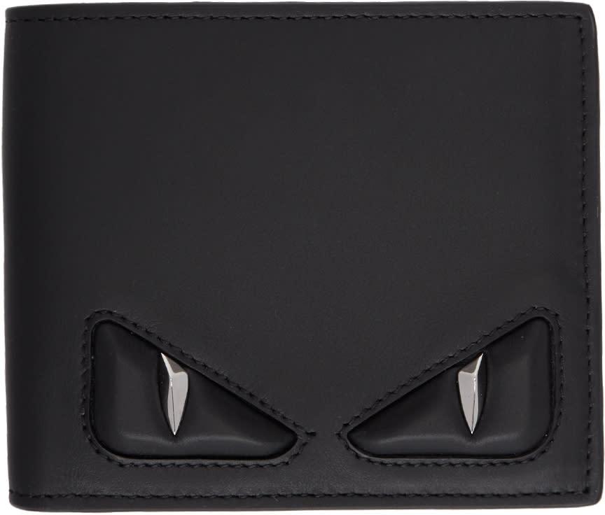 Image of Fendi Black 3d bag Bugs Wallet