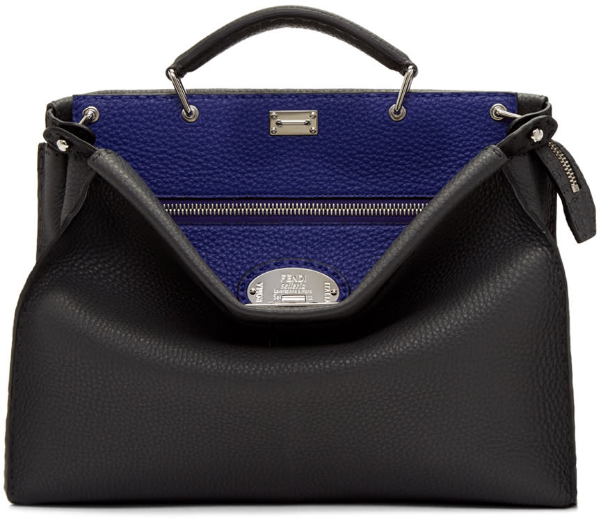 4495ee031a66 Fendi Grey and Blue Peekaboo Briefcase