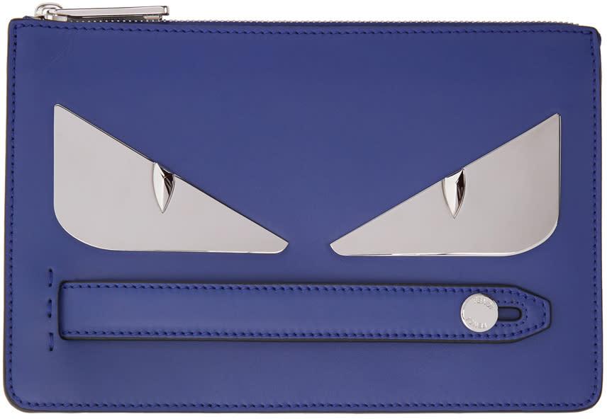 c8e21219df4 Fendi Blue bag Bugs Clutch