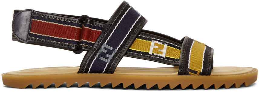 0d602feb Fendi Multicolor Logo Strap Sandals