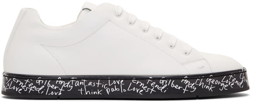 Fendi White fendi Vocabulary Sneakers