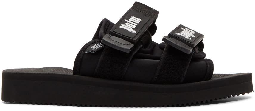 Palm Angels Black Suicoke Edition Slider Sandals