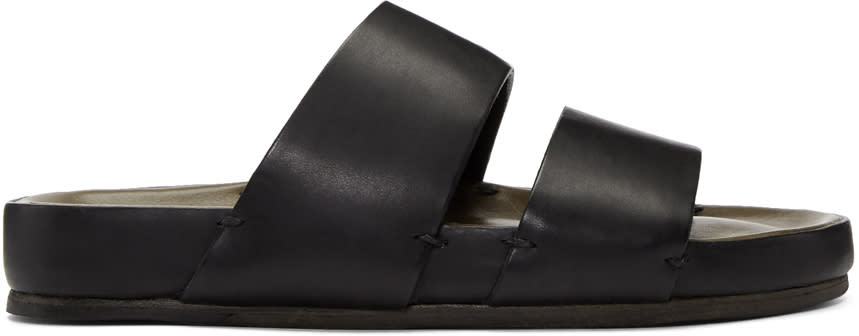 Feit Black Two-strap Sandals
