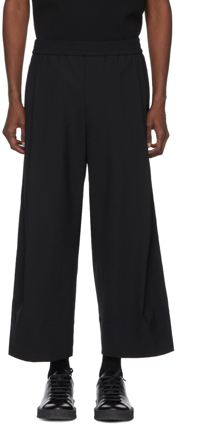 Wooyoungmi Pantalon Surdimensionné Noir