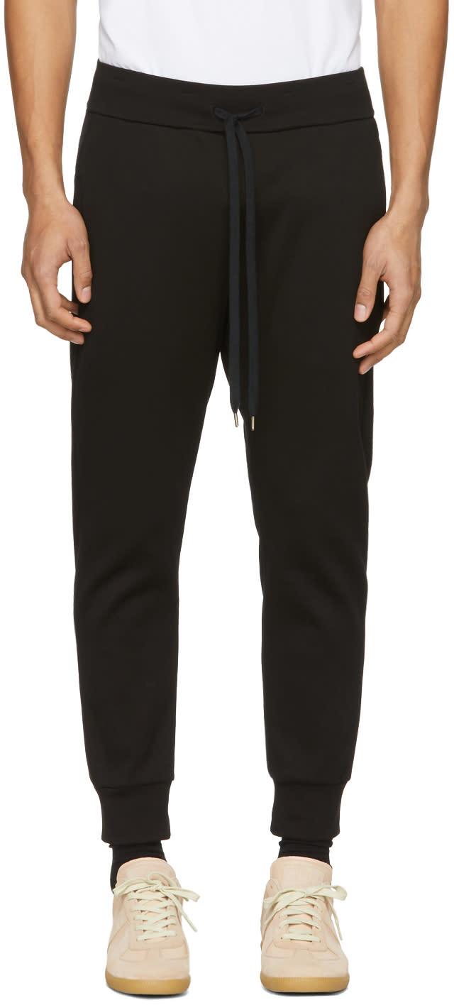 Attachment Pantalon De Survêtement En Coton Noir