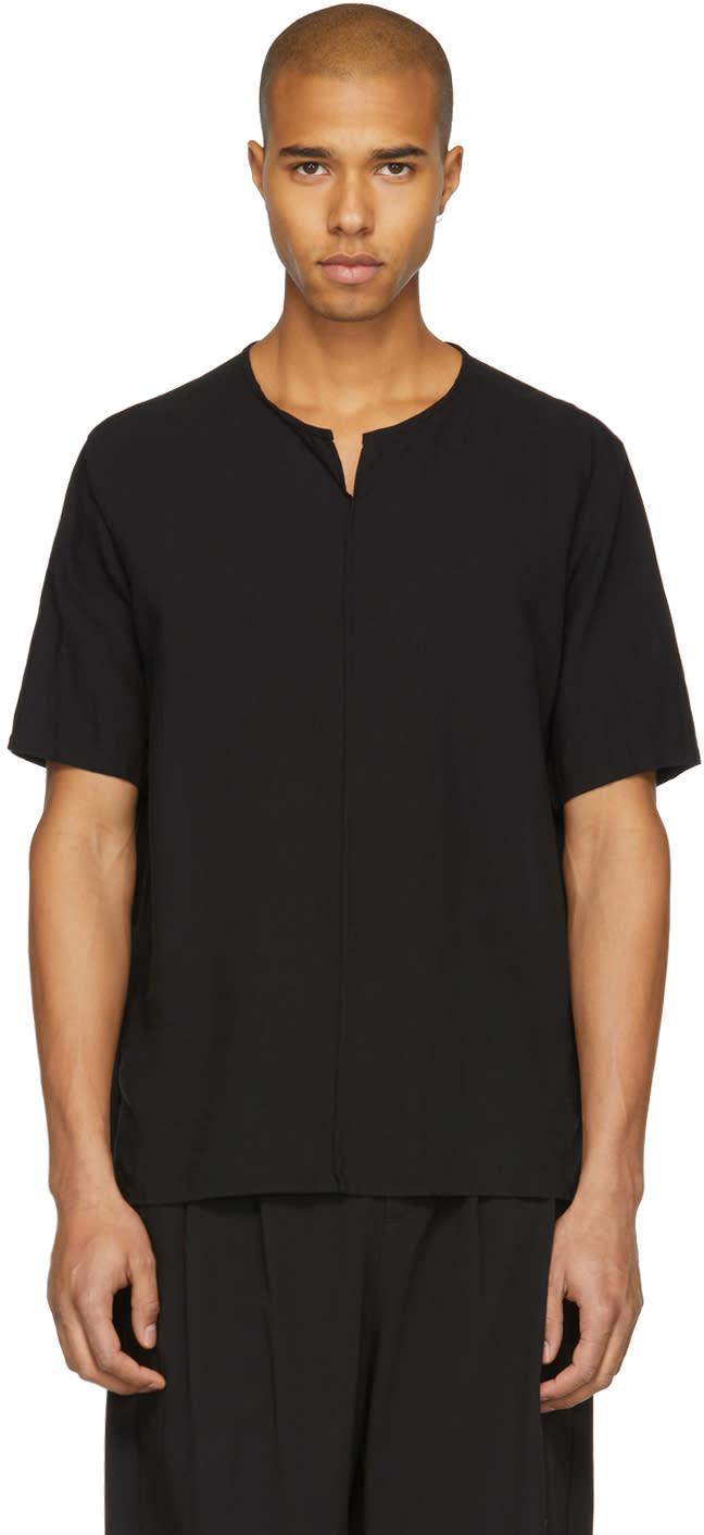 Attachment T-shirt En Lin Noir