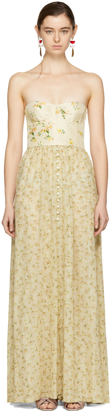 Brock Collection Beige Long Dallas Dress