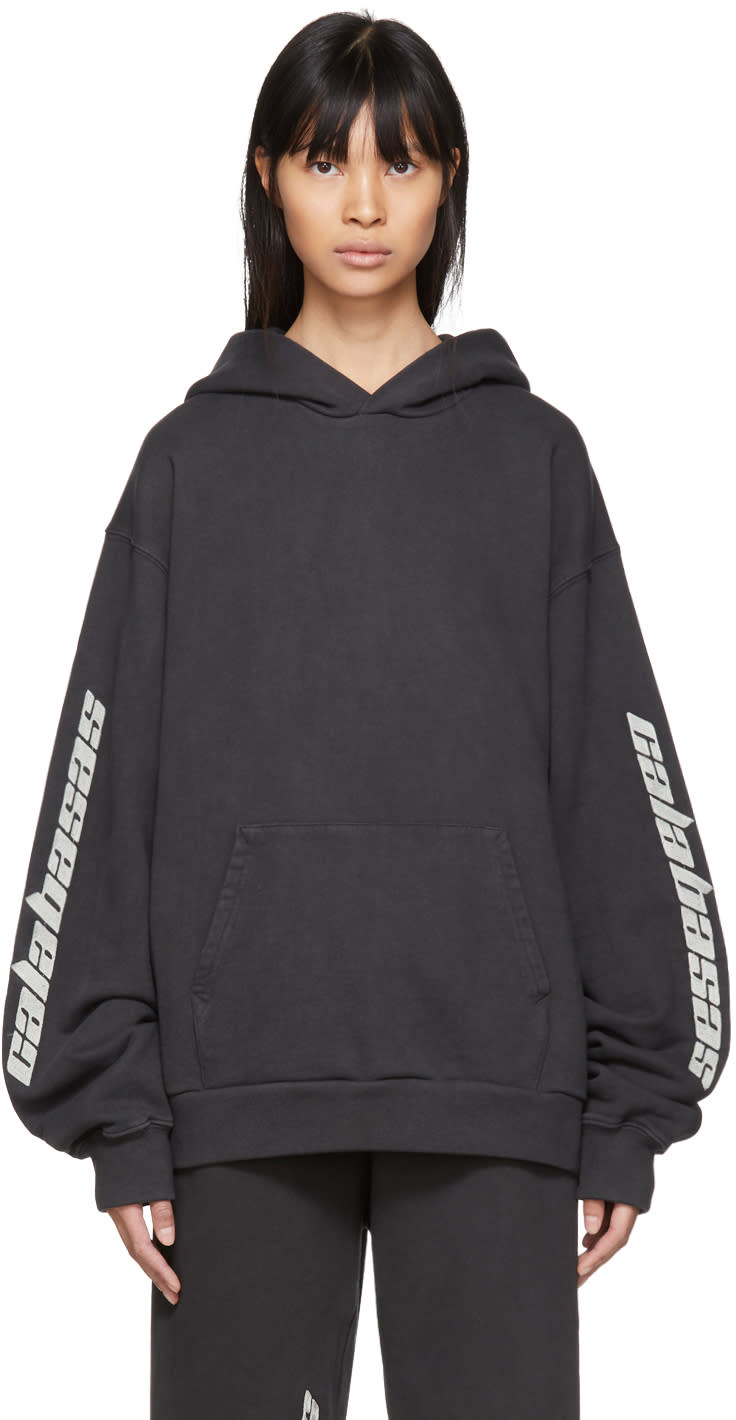Image of Yeezy Black calabasas French Terry Hoodie
