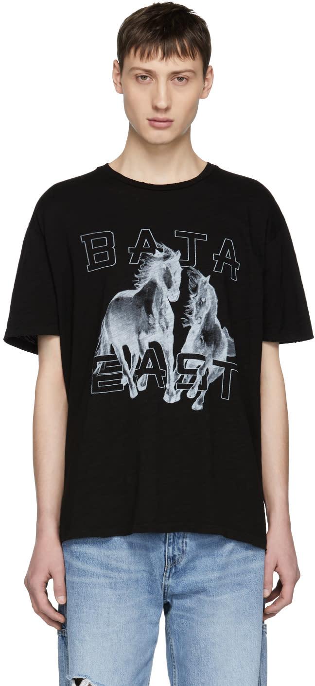 Baja East T-shirt à Logo Noir Freedom