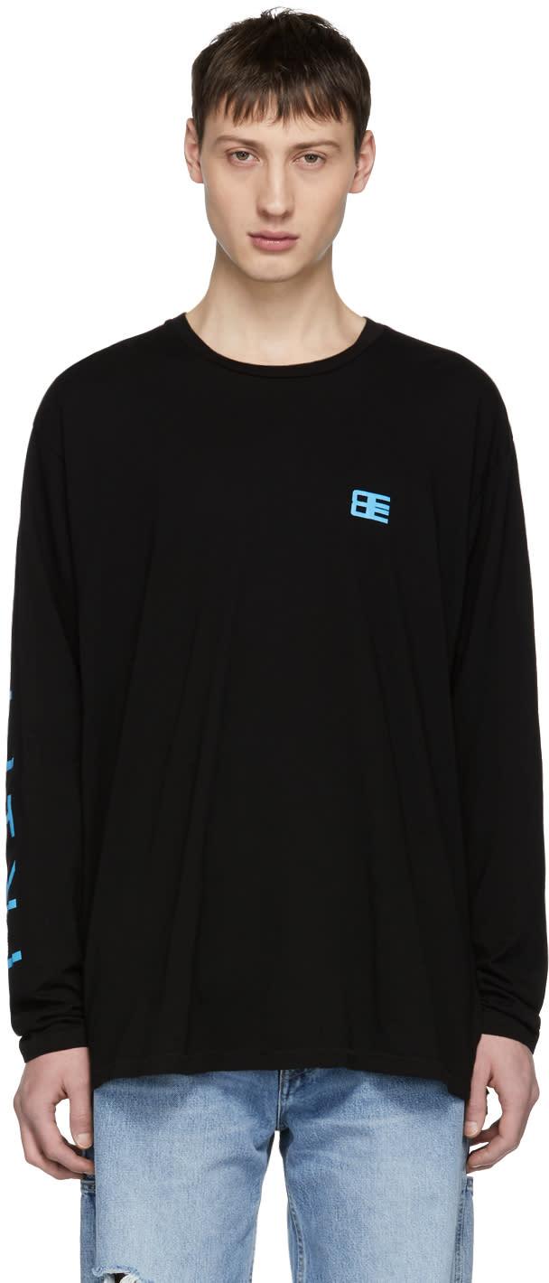 Baja East T-shirt à Manches Longues Noir trippin