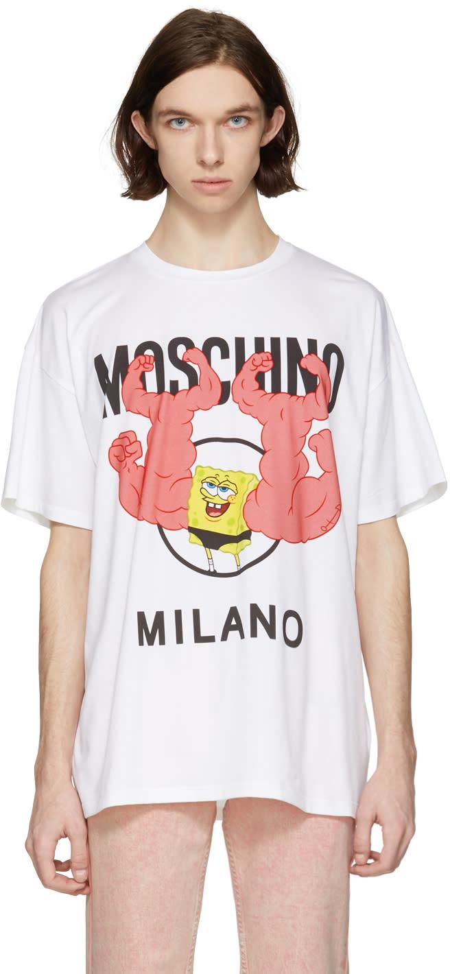 cf478dafc2e Moschino White Spongebob T shirt