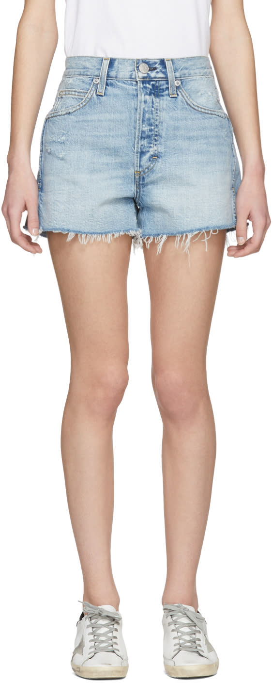 Amo Short En Denim Bleu Rosebowl