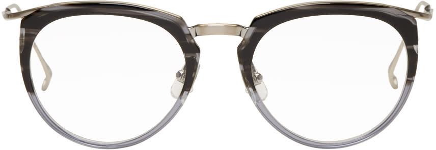 Image of Issey Miyake Men Grey Half Boston 1 Glasses