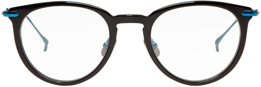 Image of Issey Miyake Men Black and Blue Boston 2 Glasses