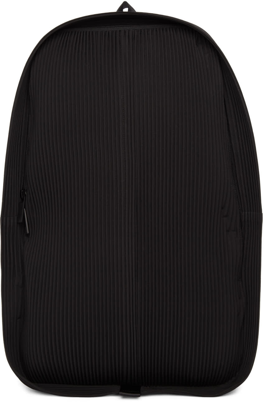 Image of Homme Plissé Issey Miyake Black Pleats Daypack Backpack