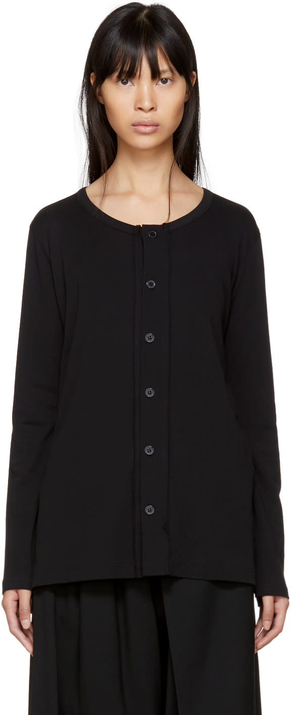 Image of Ys Black Drape Cardigan
