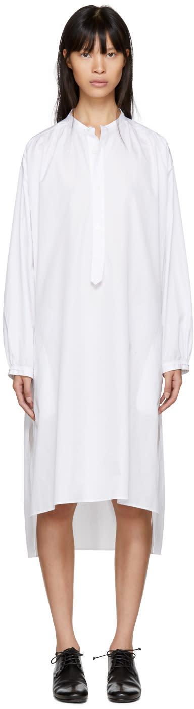 Ys Robe Chemise Longue Blanche