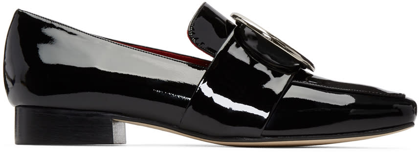 Image of Dorateymur Black Patent Harput Loafers