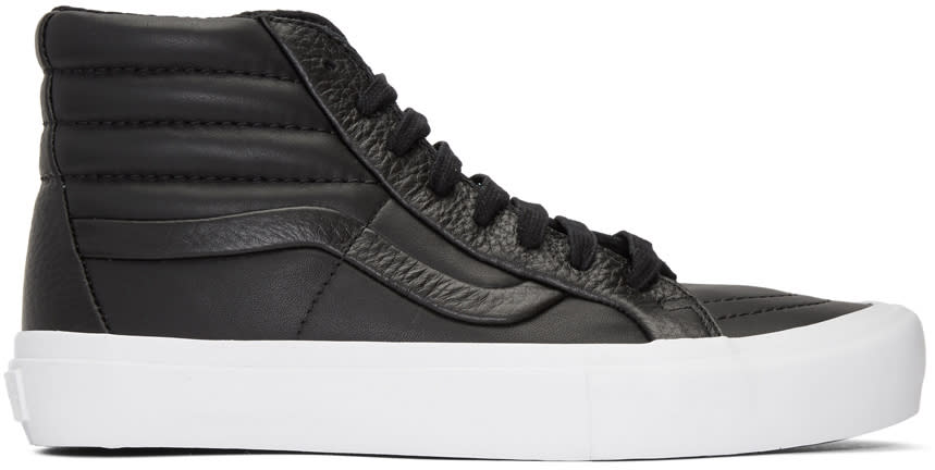 sale retailer 35ba3 5bed6 Vans Black stitch and Turn Sk8 hi Reissue St Sneakers