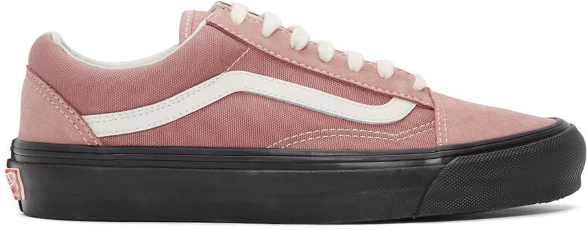 e93a0d1dac Vans Pink and Black Og Old Skool Lx Sneakers