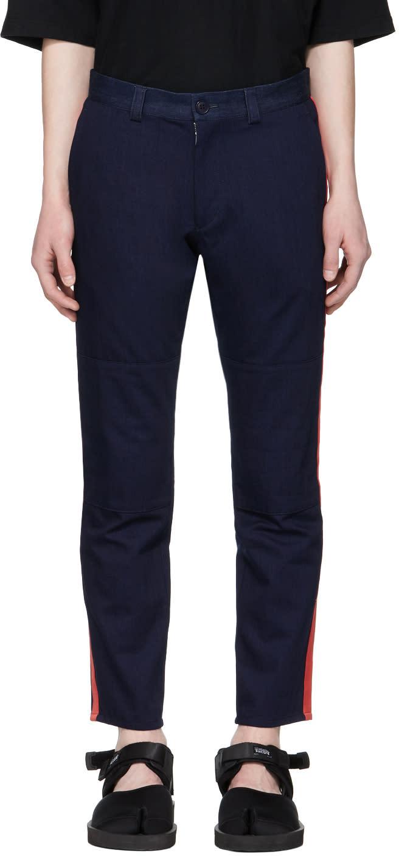 Blue Blue Japan Pantalon En Sergé Indigo Side Line