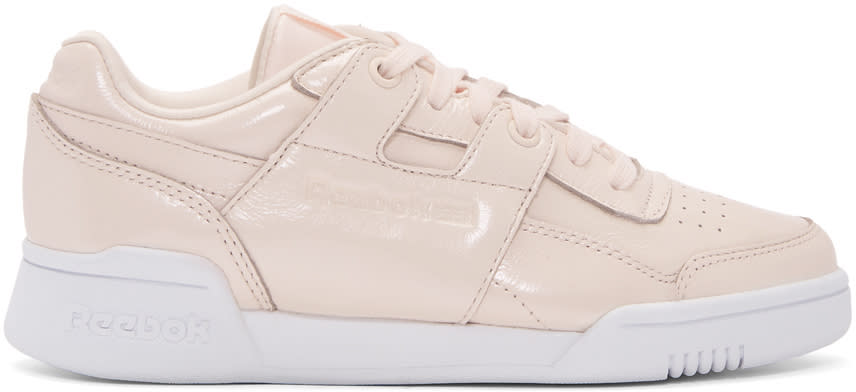 d05b70239a35c Reebok Classics Pink Workout Lo Plus Iridescent Sneakers