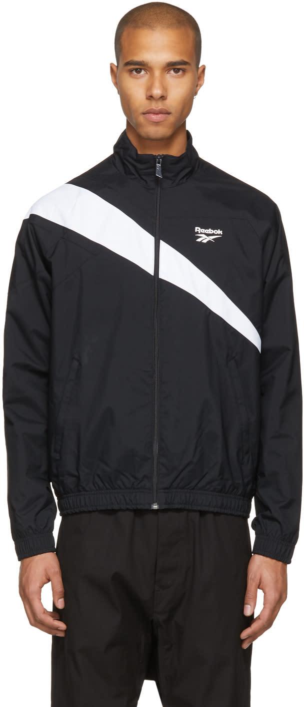 Image of Reebok Classics Black and White Lf Track Jacket