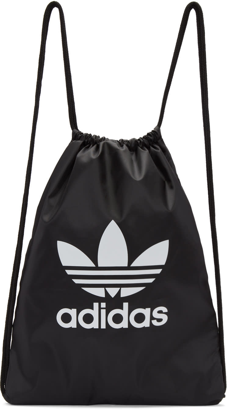 6c0910aa61e9 Adidas Originals Black Trefoil Gym Backpack