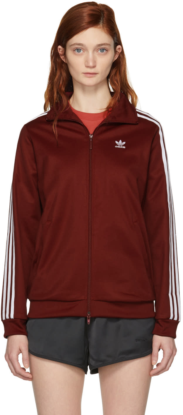 cc58a65ab73a Adidas Originals Burgundy Bb Track Jacket
