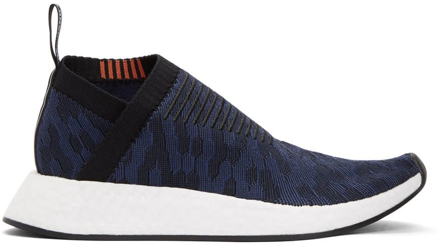 Image of Adidas Originals Black and Indigo Nmd-cs2 Pk Sneakers