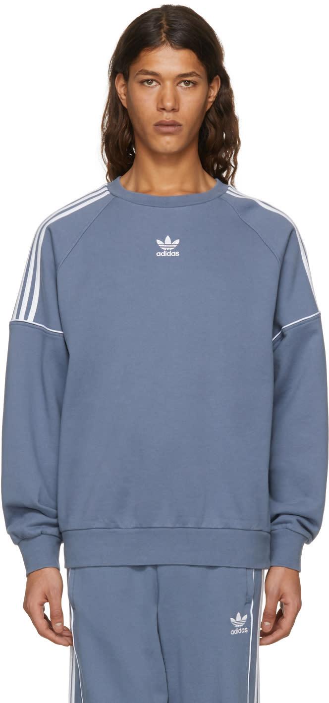 info for new lower prices best value Adidas Originals Grey Pipe Crew Sweatshirt
