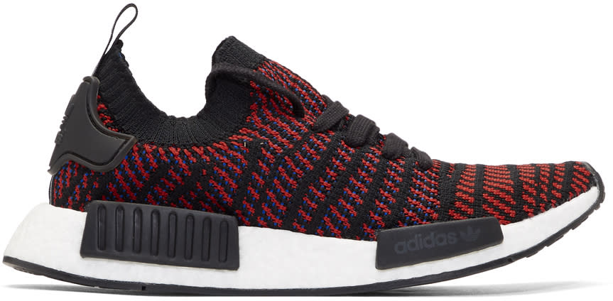 b6f1ac527 Adidas Originals Red and Black Nmd r1 Stlt Pk Boost Sneakers