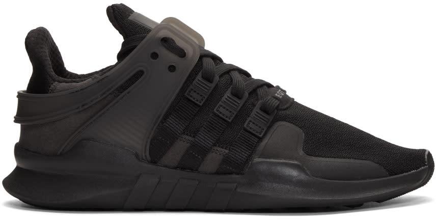 Image of Adidas Originals Black Eqt Support Adv Sneakers