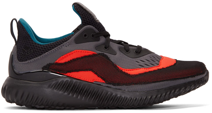 promo code 7668f d70fe Adidas X Kolor Red and Grey Alphabounce Sneakers