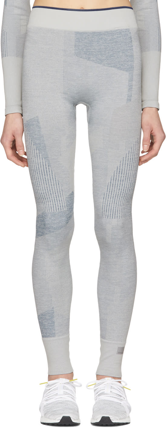 Adidas By Stella Mccartney Legging Gris Training Seamless Block