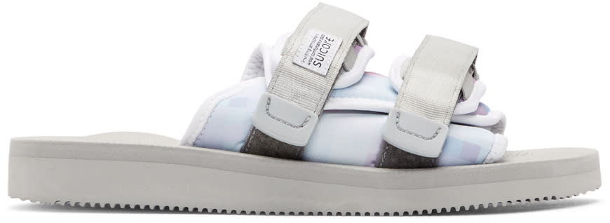 John Elliott Purple and Grey Suicoke Edition Pixel Photo Slides