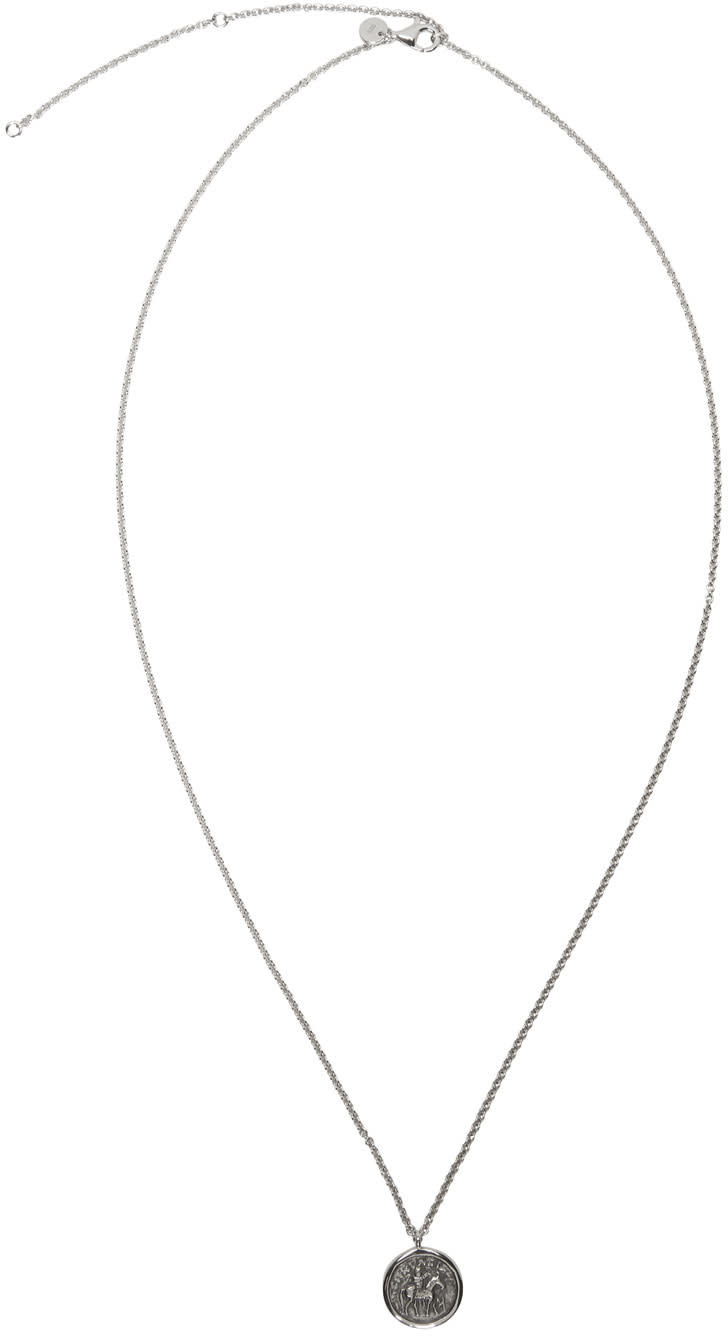Tom Wood Silver Coin Pendant Necklace