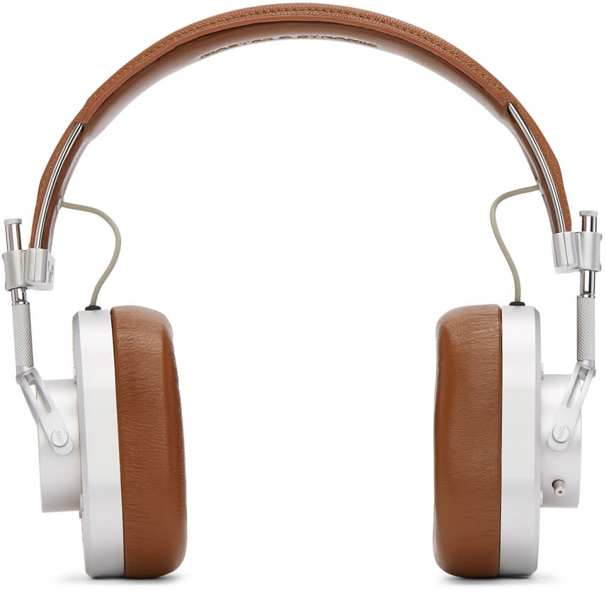Image of Master and Dynamic Silver and Brown Mh40b2 Headphones