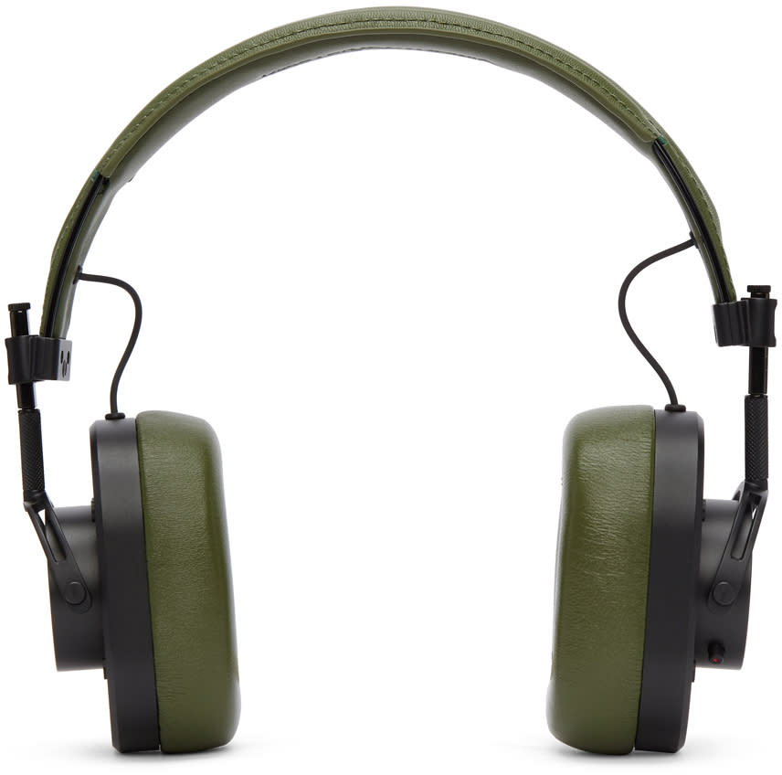 Image of Master and Dynamic Black and Green Mh40b8 Headphones